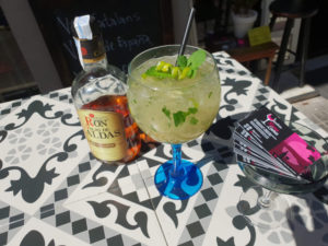 Mojito a base de ron de Colombia